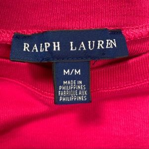 Ralph Lauren Tops - Ralph Lauren Pink Long Sleeve Cotton Top